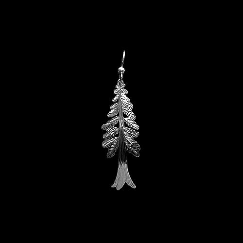 Cedar Tree Earrings by Wren Silverworks