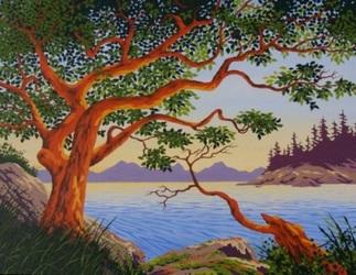 Arbutus and Ocean by Joe Smith