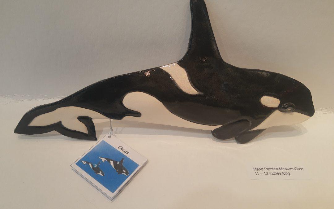Ceramic Orca Whale – Medium