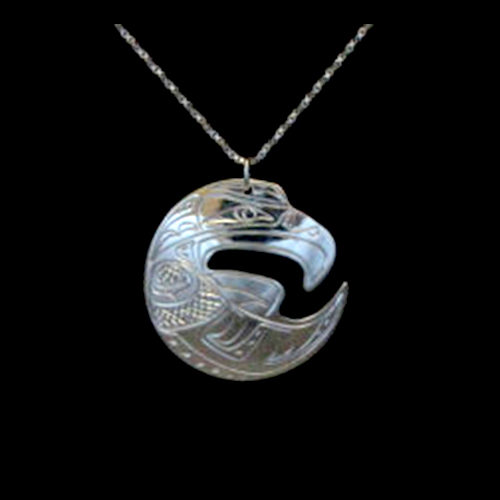 Eagle Cut Out Necklace by Silver Eagles
