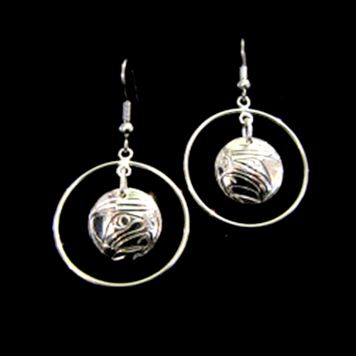 Circle Earrings by Silver Eagles